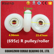 plastic coated ball bearing Curtain Pulley 695Z Glass Sliding Shower Door Pulley