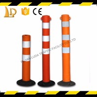 Safety EVA flexible road rubber post with super bright reflective