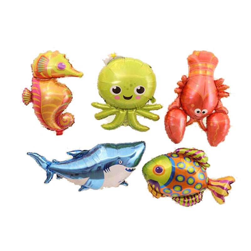 helium advertising party sea animal balloons seahorse hippocampus balloons