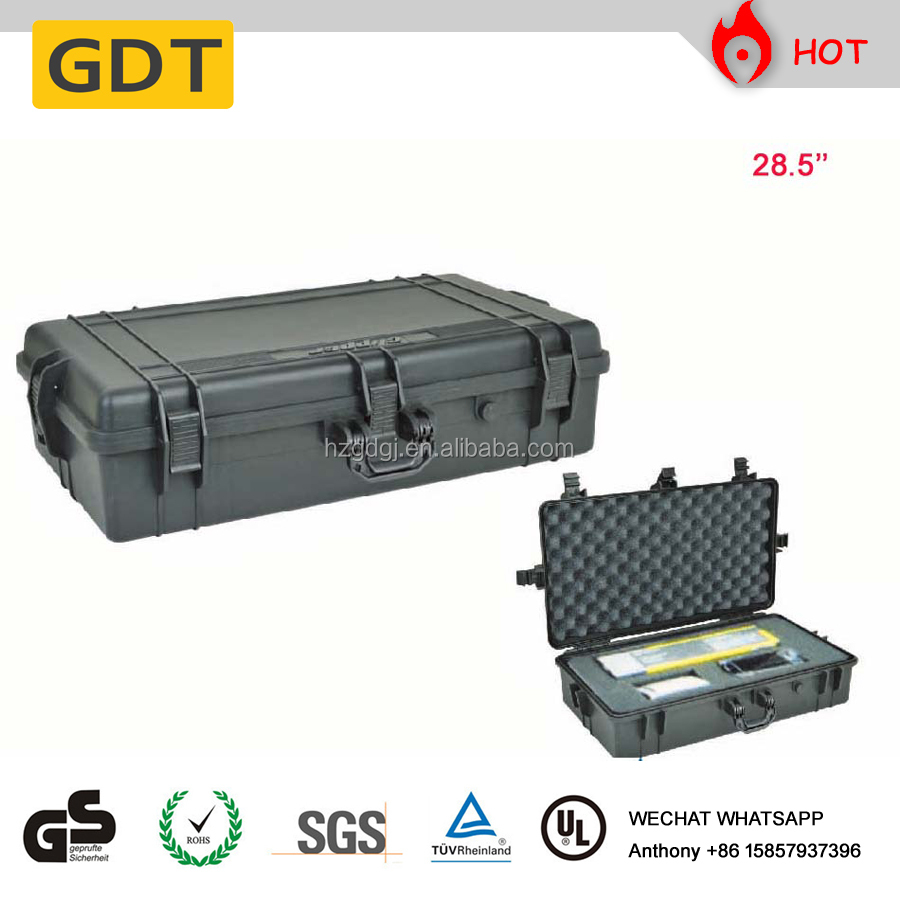 Tough military instrument case with foam