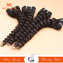 The most fashional double drawn machine weft 100% virgin remy french deep wave human hair extensions