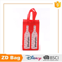 Top quality wholesale 2 bottle pp nonwoven wine tote bag