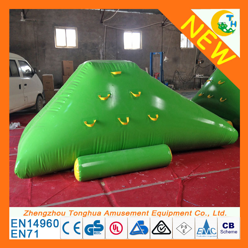 water floating game swimming pool game inflatable island