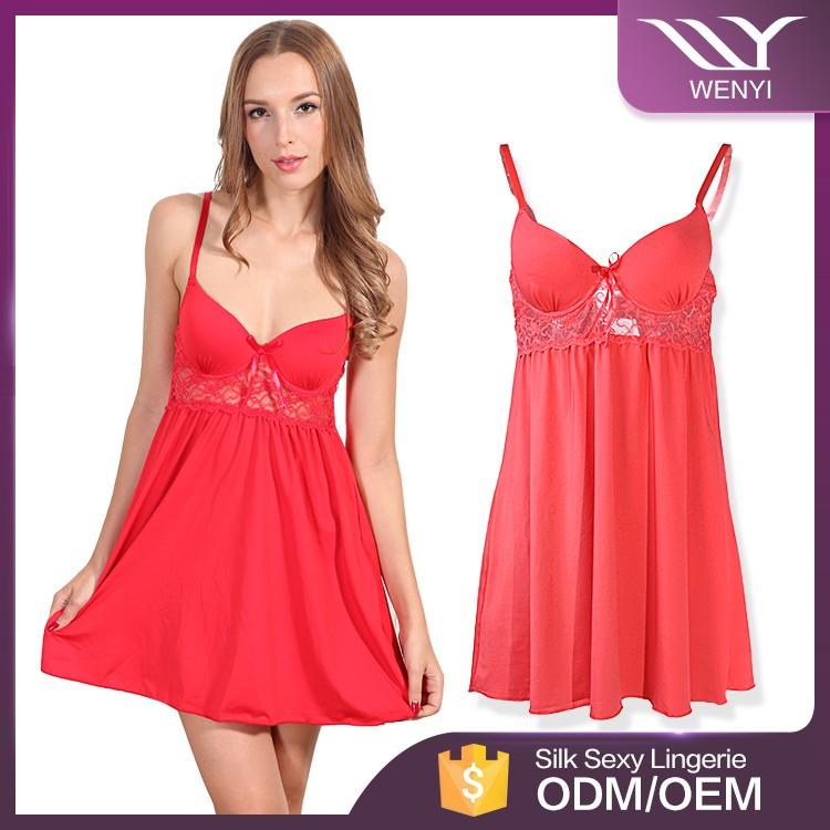 High quality alibaba gold supplier new style charming young girls sexy nightwear
