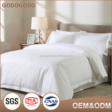 Wedding Textile Exquisite Design Customized Logo 5 Star-Rating Extra Wide Fabric White Hotel Bedding Set From China