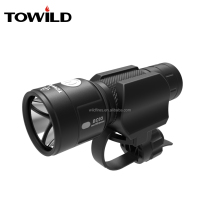 TOWILD LED Black bicycle light with rechargeable18650 Li-on Battery as well as min powful Flashlight Lamp Torch set