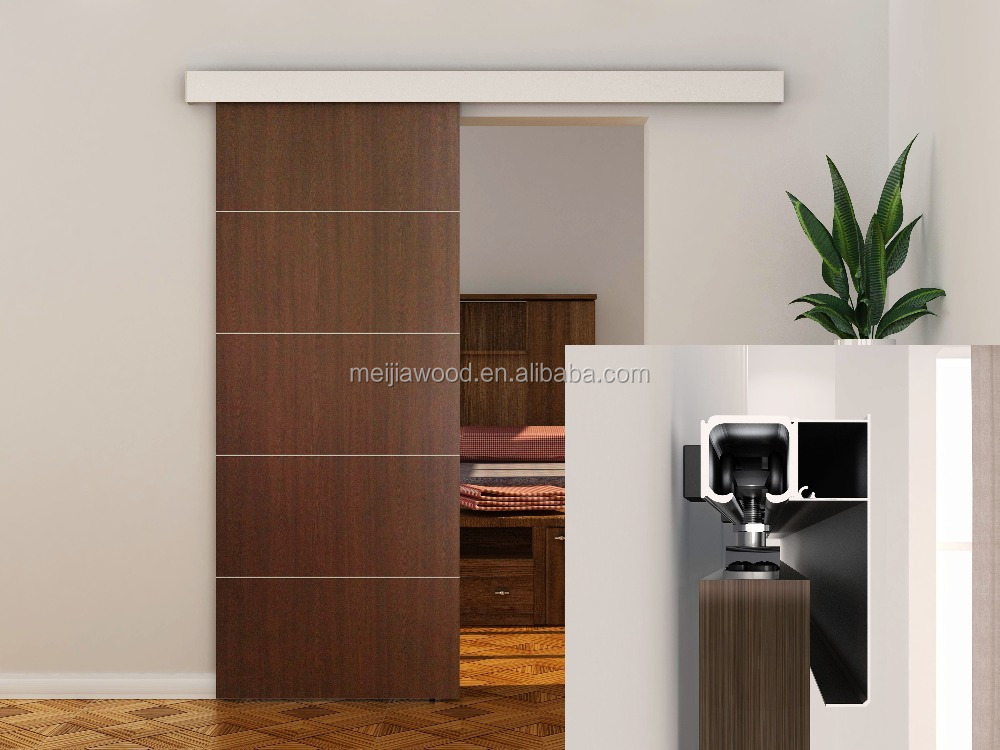 RS 80 Modern Wall Mounted aluminium sliding doors accessories