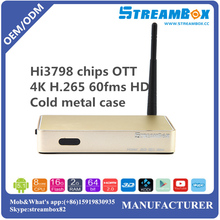 Hi3798 H.265 4K 60fms Digital Google Android Wifi Smart Live Media Internet IPTV 4K OTT TV Converter Box