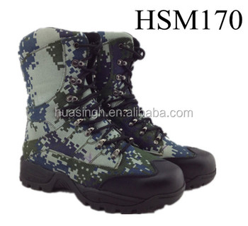 military performance camouflage waterproof canvas upper hunting boots