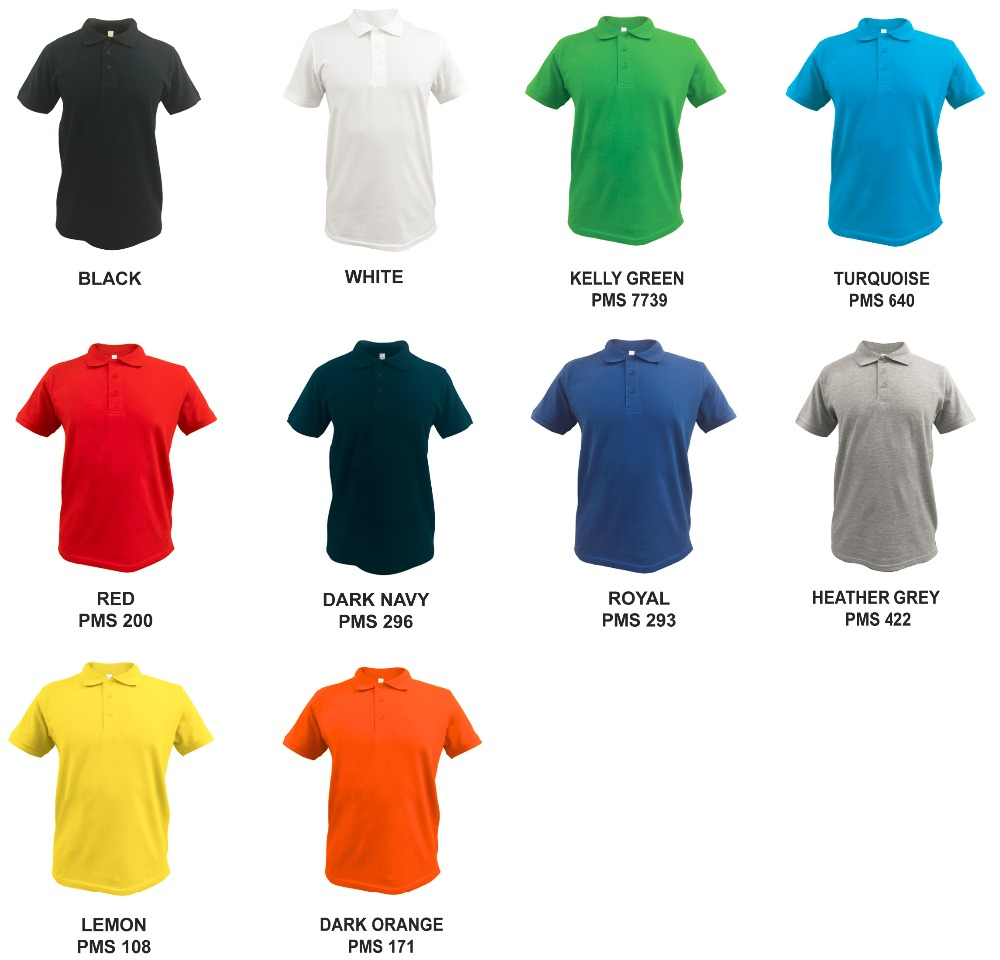 Free sample black men's polo shirts with no label