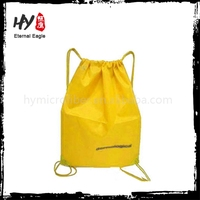 Colorful disposable drawstring bag, trendy backpack bag, long handle nonwoven bag