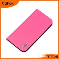 t-phox t-pl-01 PC+PU stand magnetic flip leather wallet case cover for mobile phones