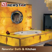 Hot sales Chinese polished onyx tub surround