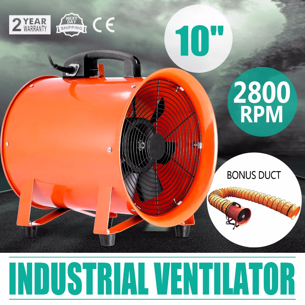"10"" Portable Industrial Axial Ventilator <strong>Blower</strong> Workshop Extractor Fan 250 <strong>mm</strong>"