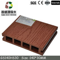 2015 High quality and water-resistant WPC decking/China WPC decking/To Guangzhou WPC outdoor decking