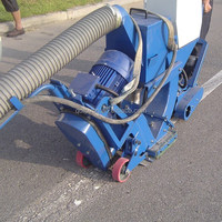 016 ROPW Portable Asphalt Pavement Marker Line Removing Shot Blasting Machine