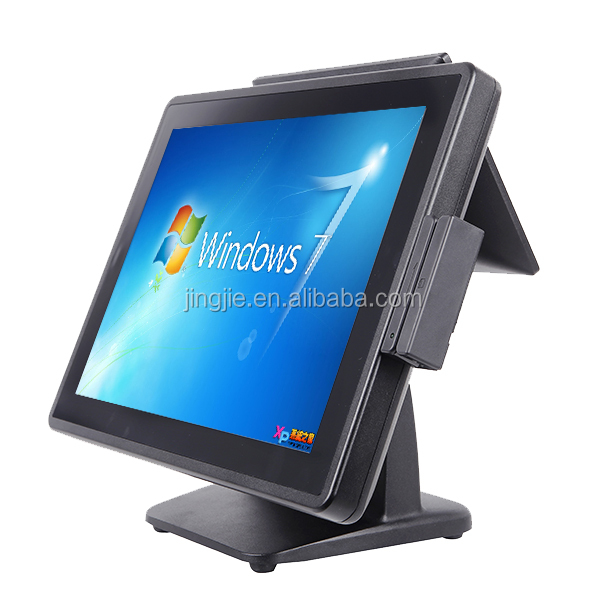 JJ-3500 POS System with 15 inch LED touch screen with 10 inch customer display,pos terminal slim design