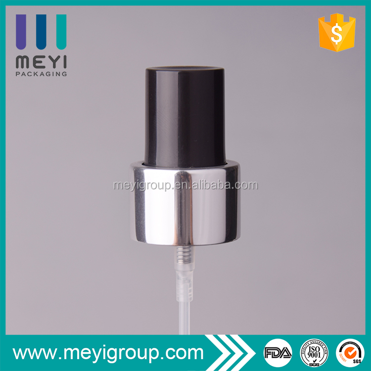 24/410 shiny silver water mist sprayer with black dustcap