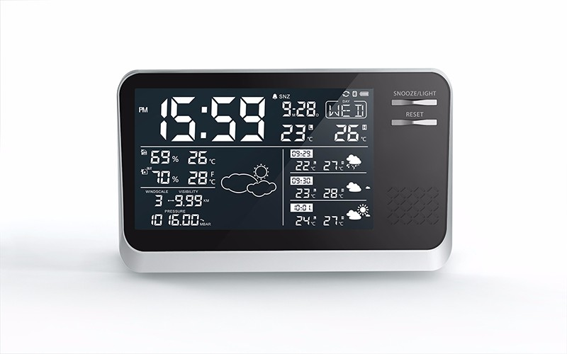 2017 wholesale Latest bulk weather station clock professional weather station