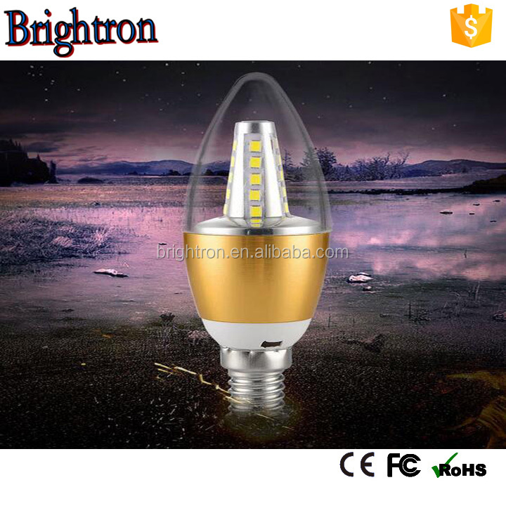 Epistar High Lumen chip led e 14 e27 bulb led candle light bulb cool white