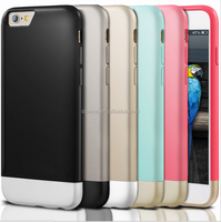 Hot sale fashion design two colors soft tpu case for iphone 6.slim case cover for iphone 6 plus