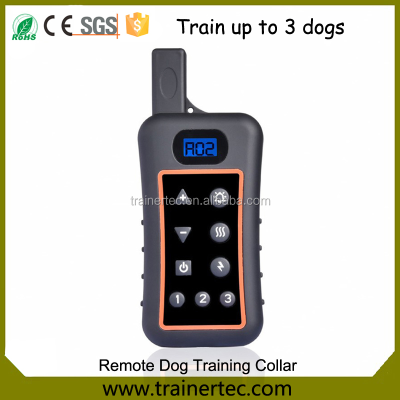 2017 Eletric 1200m Remote Dog Training Shock Collar, Rechargeable 10 Static vibrate Beep Pet Dog Trainer With Lcd Big Display