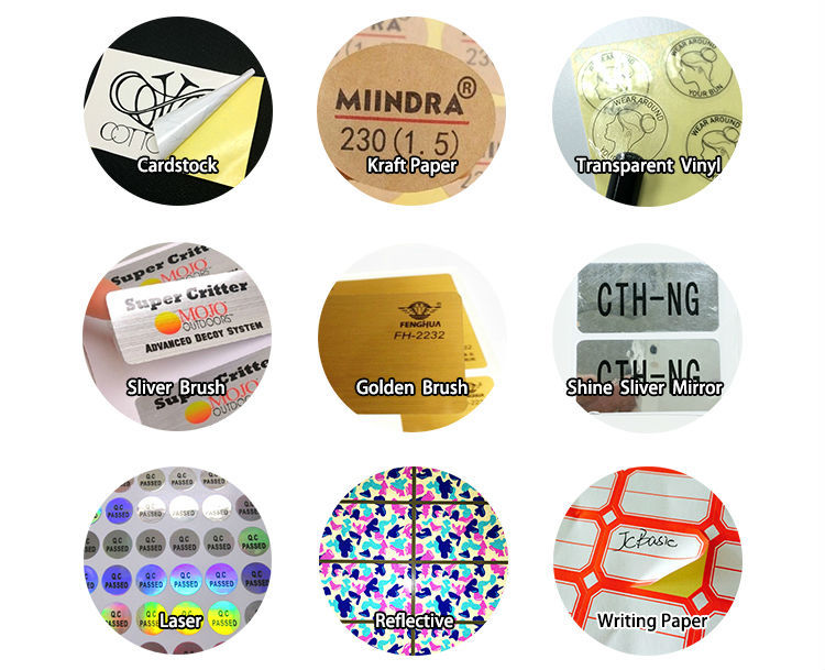 China cheap Custom transparent PVC stickers