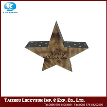 Beautiful hot fashion wood star ornament , star decoration