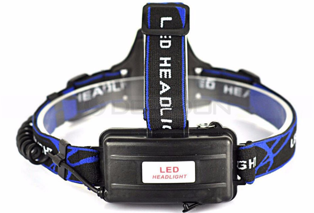 2000Lm Waterproof High Power XM-L T6 LED Headlamp LED Fishing Headlight LED Head Torch With 2X 18650 Battery and Charger