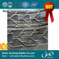 heat resist oil and abrasion resistant elevator v pattern chevron rubber conveyor belt china company