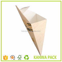 Take Away High quality paper crepe cone holder for fast food restaurant