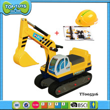 Best design toys baby safety ride on children excavator car with helmet