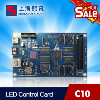 led control card C10 works for strip full color screen supports animation, video and animated text