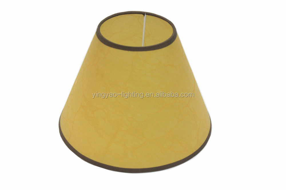 Best-Selling 10*20*15 Yellow Empire Parchment Lamp Shade