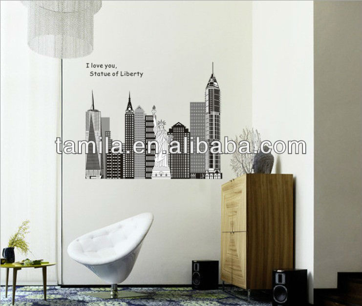 Home Decorative Statue of liberty Home Decorative Wall Sticker