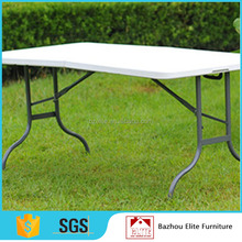 Modern plastic foldable table for outdoor furniture