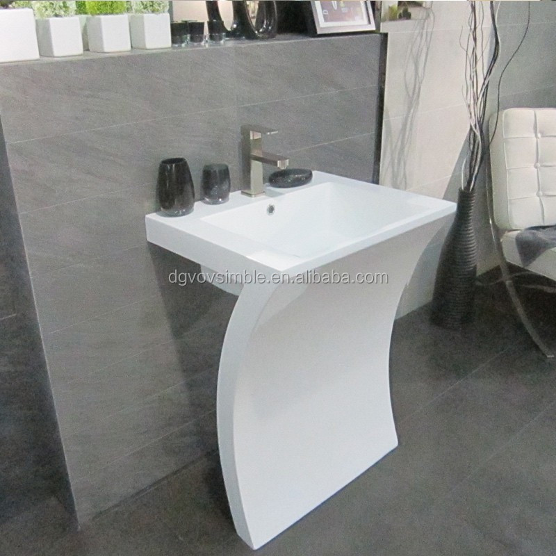 Sanitary ware decorated pedestal wash basin buy pedestal for Dining room wash basin designs