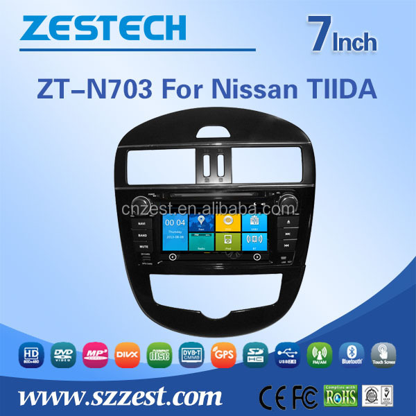 car multimedia for Nissan Pulsar Tiida multimedia system with DVD Radio RDS 3G BT TV SWC car gps navigation system