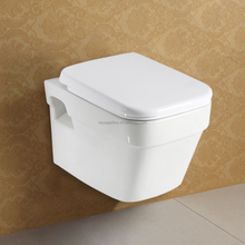 Wall Hanging Toilet Chinese Style White Ceramic P Trap