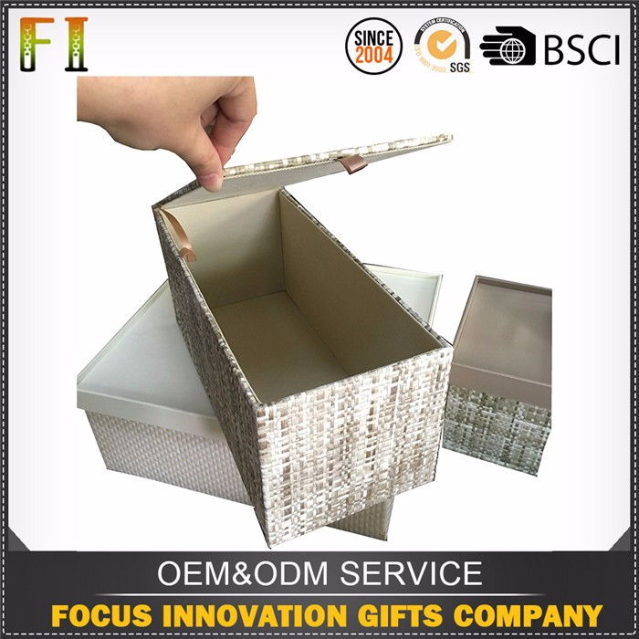 2016 Newest attractive design decorative woven storage boxes