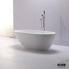 artificial stone free standing acrylic resin solid bath tubs