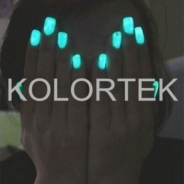 Nail enamel glowing pigment, glow in the dark pigment