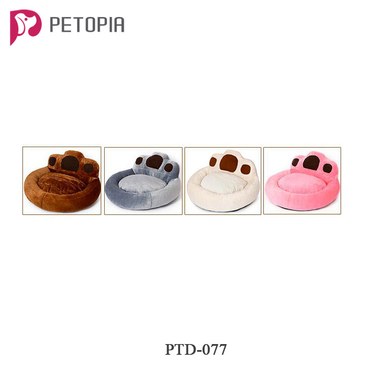 2017 Polar Bear Bear Paw Pet Nest Warm Teddy Kennel Ultra Plush High Quality Not Deformed Backrest Type Dog Bed 4 Colors