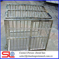 metal wire welded dog cage,Galvanized Household pet cage,beautiful economical pet cage .