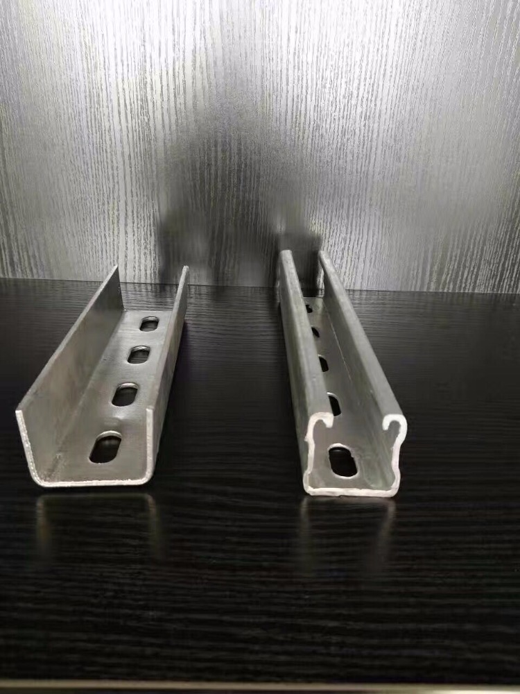 Galvanized U-shaped steel for solar panel support