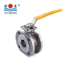 Stainless steel italy type wafer flange ball valve
