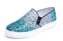 Rainbow Glitter fabric materials for ladies shoes upper and fashionable handbags usage