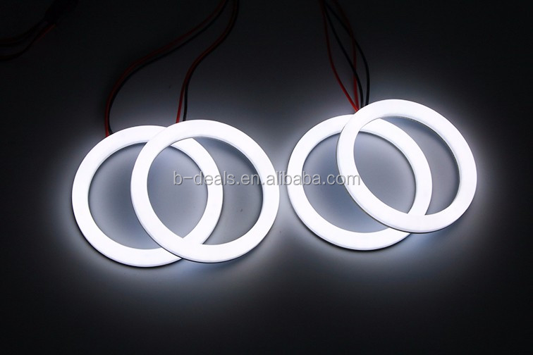 2017 new led angel eyes 70mm 80MM halo ring kits milk cotton white color