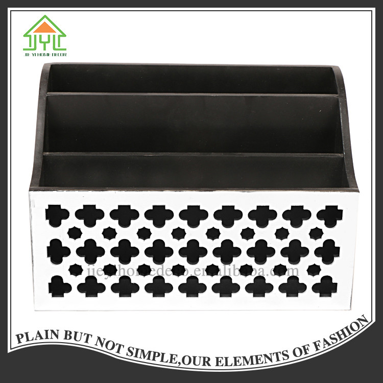 Chinese Useful Multifunctional Preferential 3 Slot Pits Mosaic Magazine Table File Rack