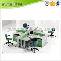 Guangzhou Sunshine Hot Sale Wooden Office Furniture Modern Staff Partition MDF Commercial Cubicles